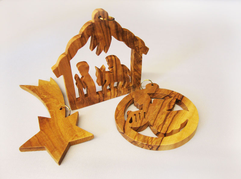 Jerusalem Wood Christmas Ornament