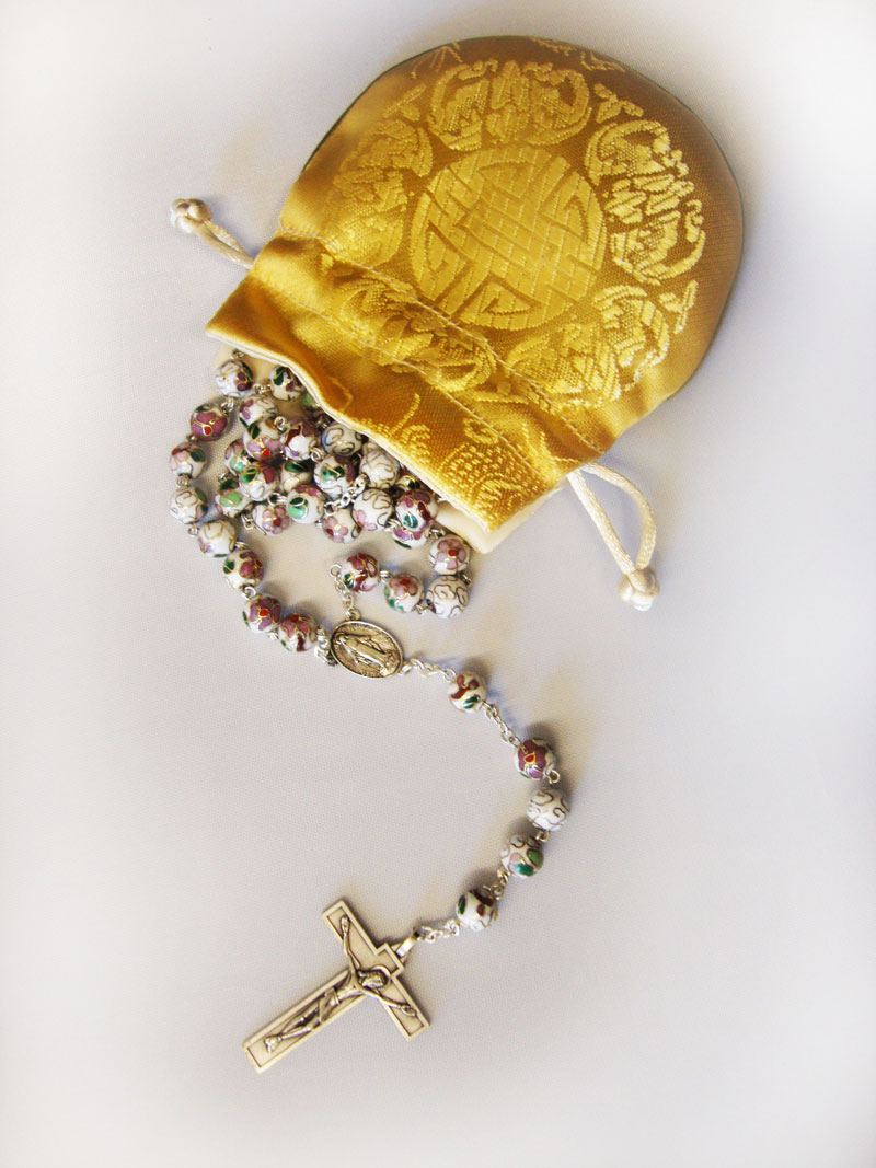 Chinese Monk Rosary White
