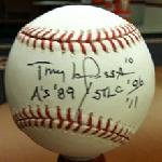 Click here for more information about Autographed Official MLB Baseball