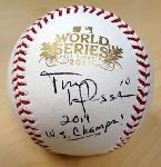 Click here for more information about Autographed 2011 Official World Series Baseball