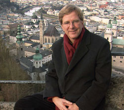 Help Rick Steves End Hunger this Christmas. Photo: Rick Steves in Salzburg, Germany.