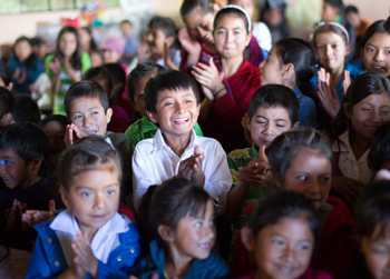 Schoolchildren in Guatemala. Photo by Joe Molieri/Bread for the World