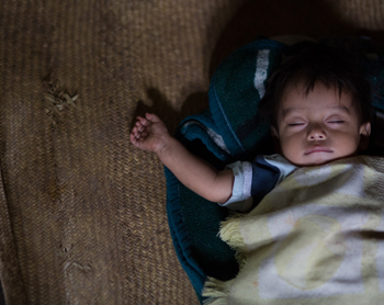 Sleeping Baby. Photo by Joe Molieri/Bread for the World