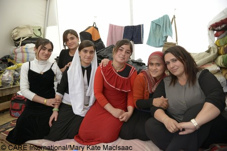 A group of displaced women in Iraq.