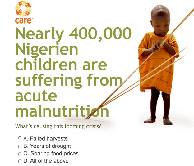 CARE -- Nearly 400,000 Nigerien children are suffering from acute malnutrition ... What's causing this looming crisis?