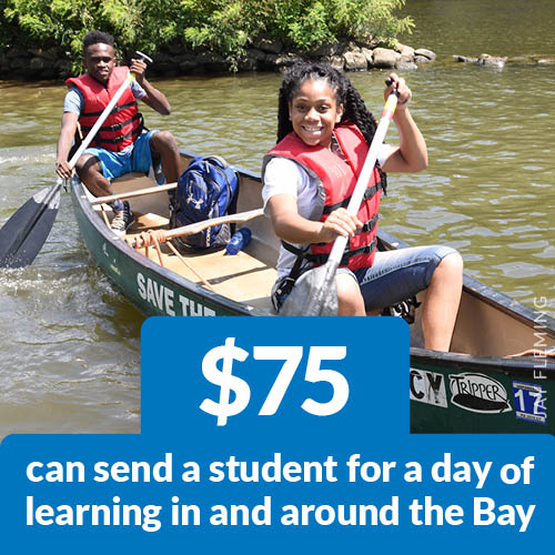 $75 can send a student for a day of learning in and around the Bay