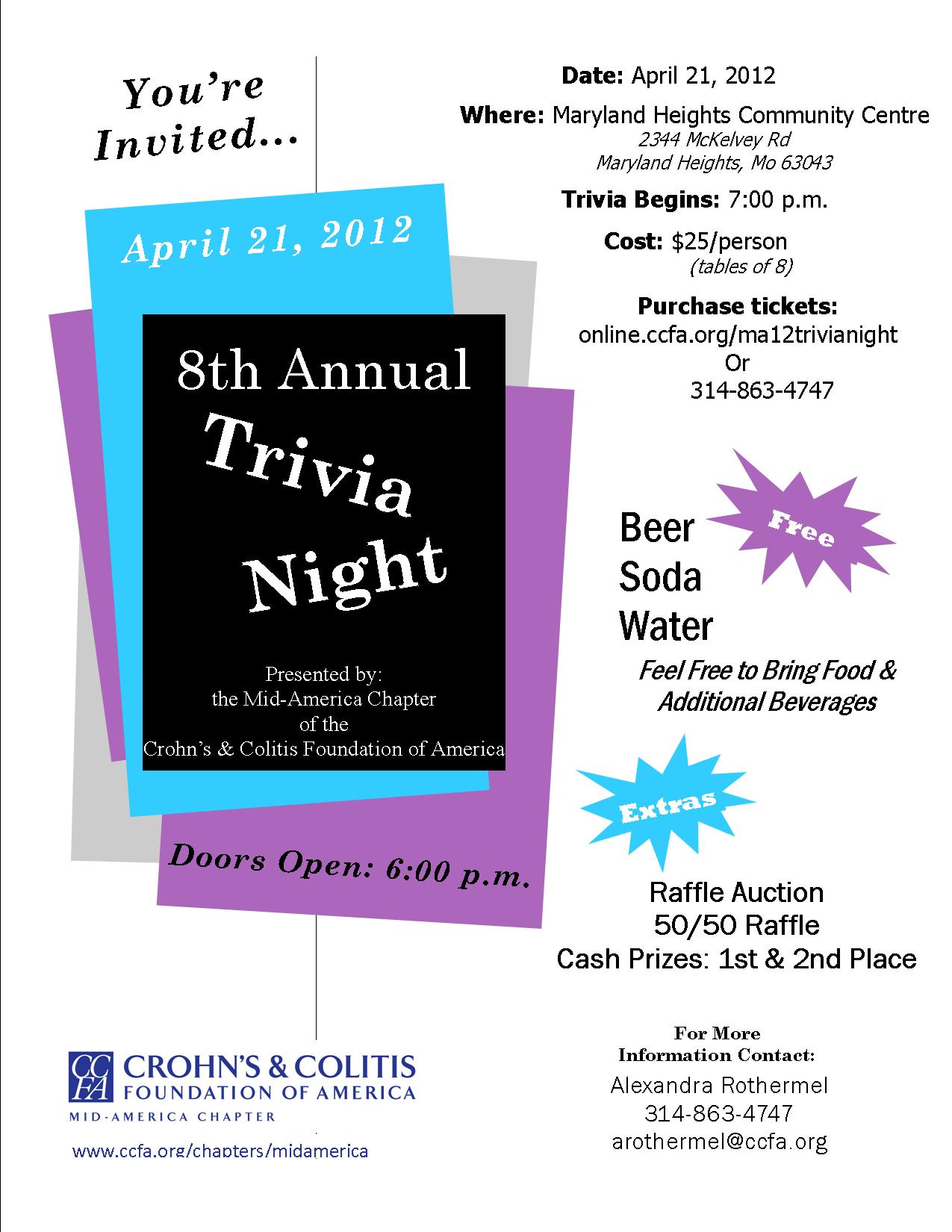 trivia night flyer design