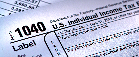 Banner image of a 1040 tax form
