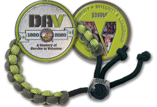 Paracord bracelet and Coin