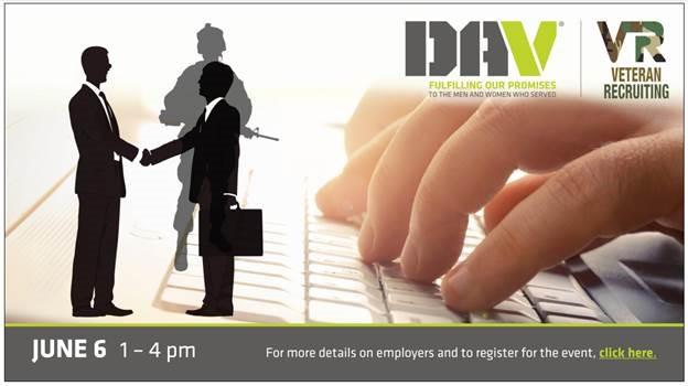 DAV Veteran Recruiting June 6 1-4pm