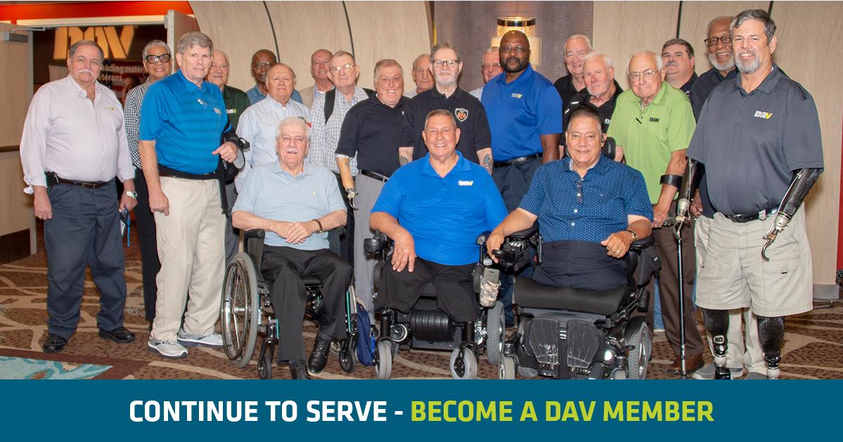 Continue to serve - Become a DAV Member