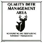 Sign -QDMA Area White  Plastic