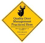 Click here for more information about Sign -QDM Practiced Here 12 x 12
