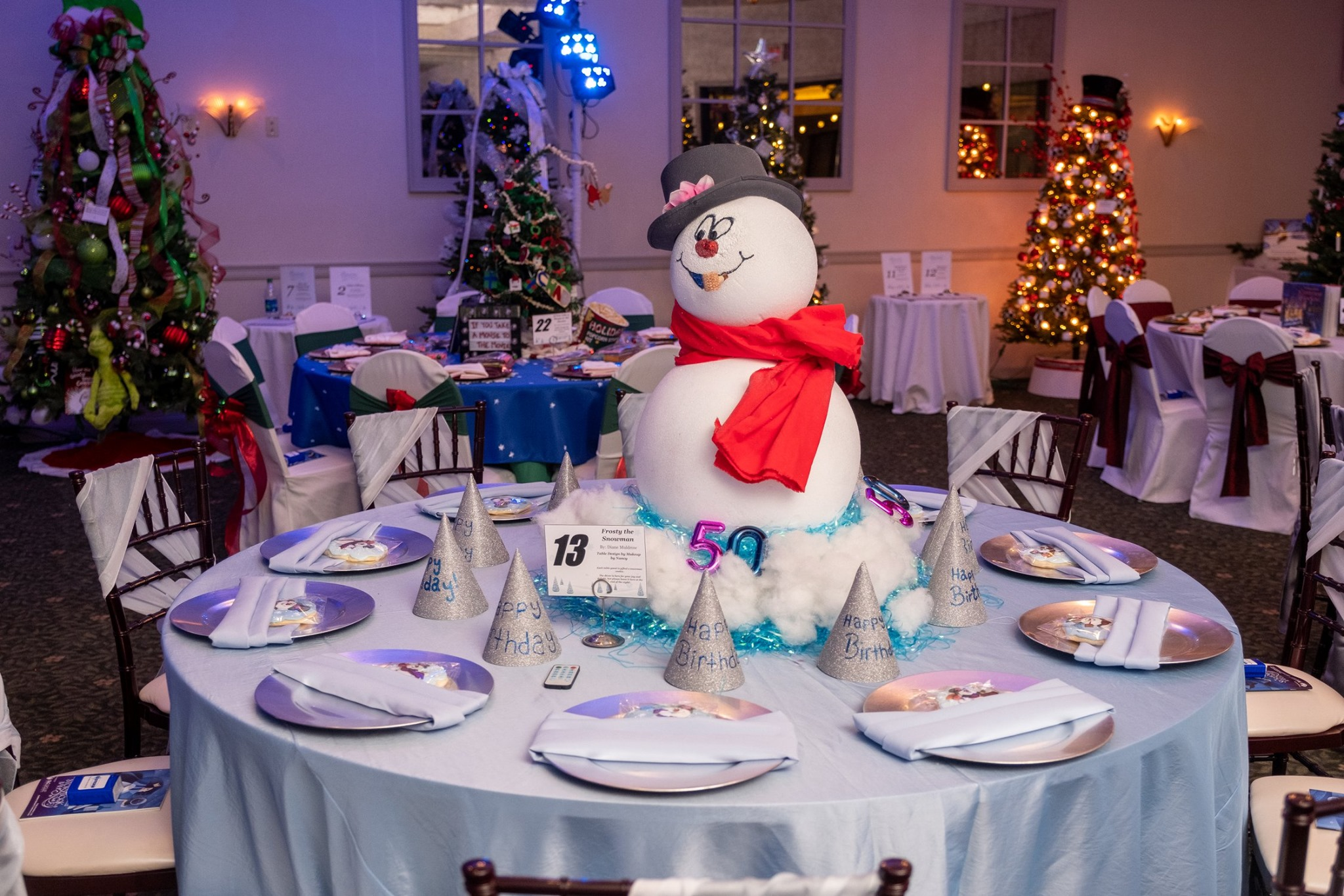 Storybook Ball Frosty the Snowman table