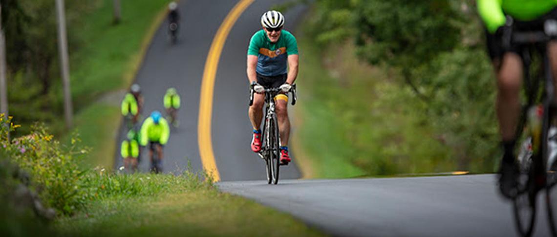 Dr. Chapman completing his virtual CHaD HERO Bike Ride