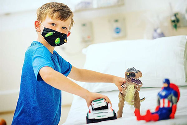 CHaD kid in outpatient unit with toys