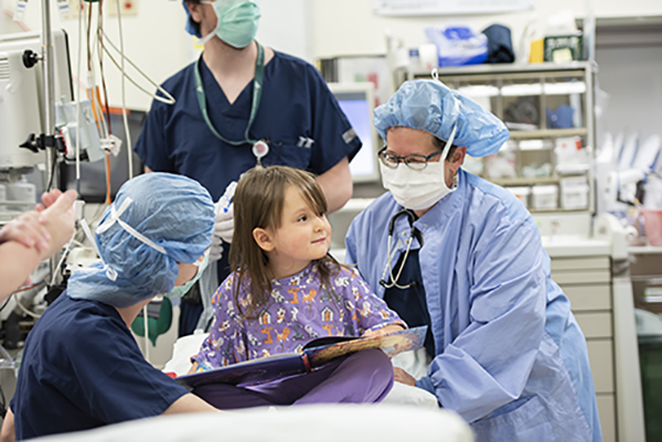CHaD kid in the OR, reading