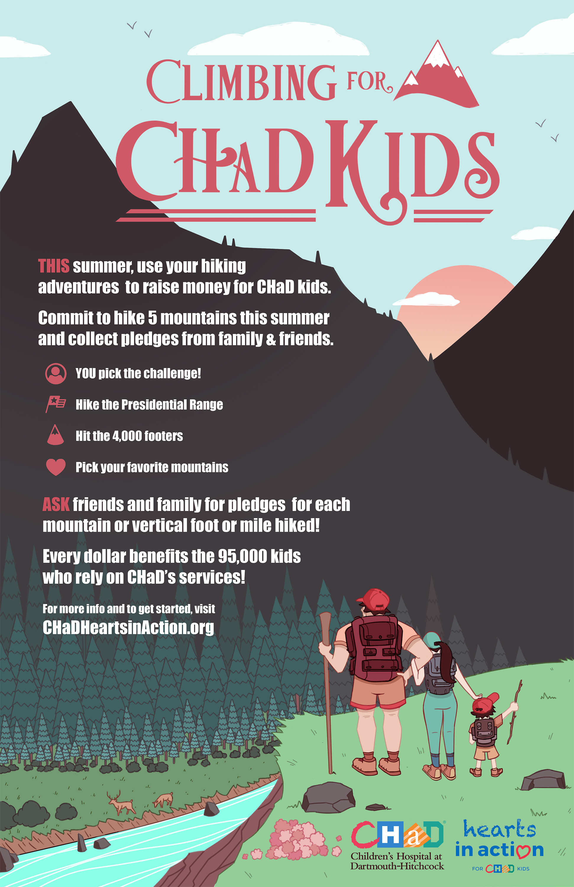 Climbing for CHaD kids poster