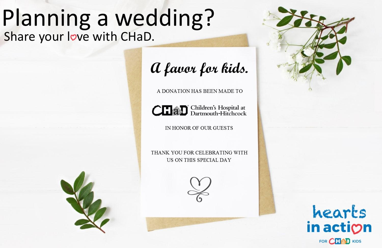 CHaD wedding favors