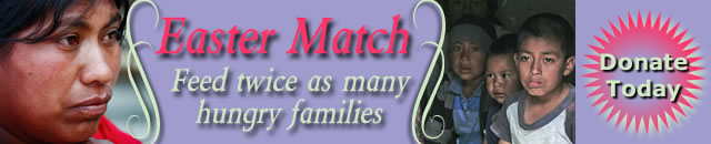 Easter Match Feed twice as many hungry families