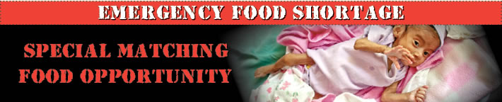 Emergency Food Shortage Special Matching Food Opportunity