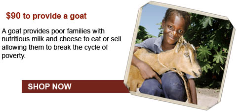 A goat provides poor families with