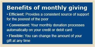 Benefits of Monthly giving