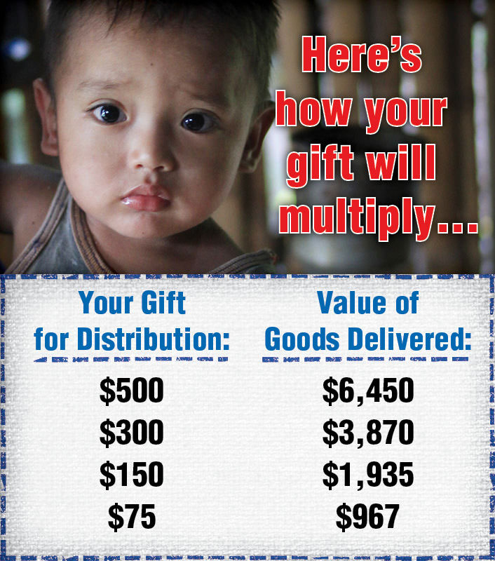 your gift today goes further to feed starving children