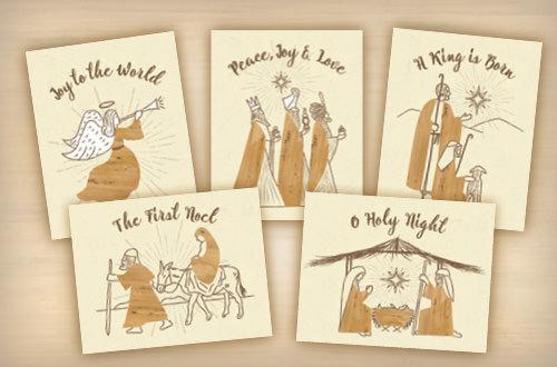 Banana Bark Christmas Cards