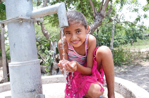 A water pump for a thirsty village