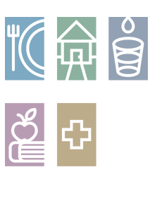 Food, Housing icon graphic
