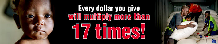Every dollar you give will multiply more than 17 times!