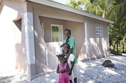 Build a house with sanitation