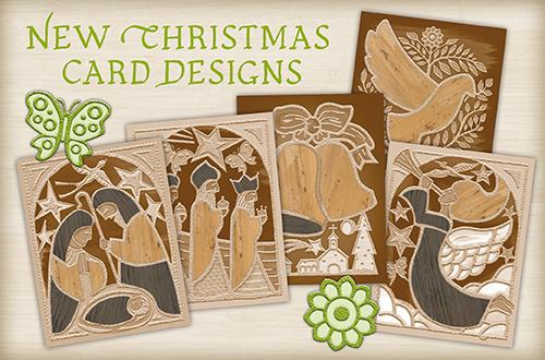 Set of 10 Banana Bark Sepia Christmas Card Designs