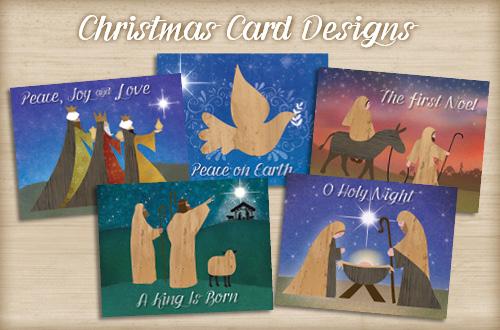Set of 10 Banana Bark Christmas Cards