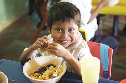 Provide 1,000 lbs. of rice and beans