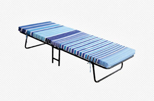 Foldable cot with mattress