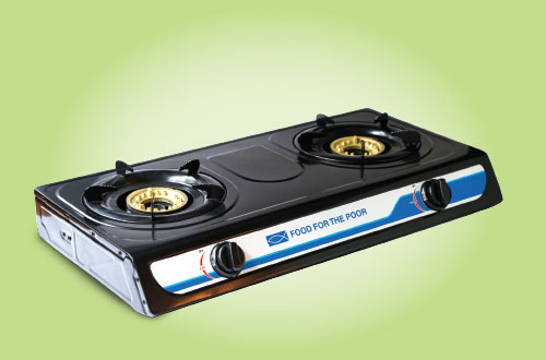 Two-burner propane stove