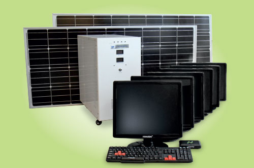 A solar-powered computer system