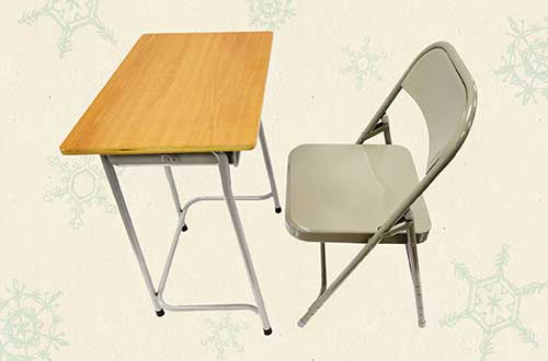 A new school desk and chair