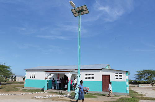 Solar-powered street light