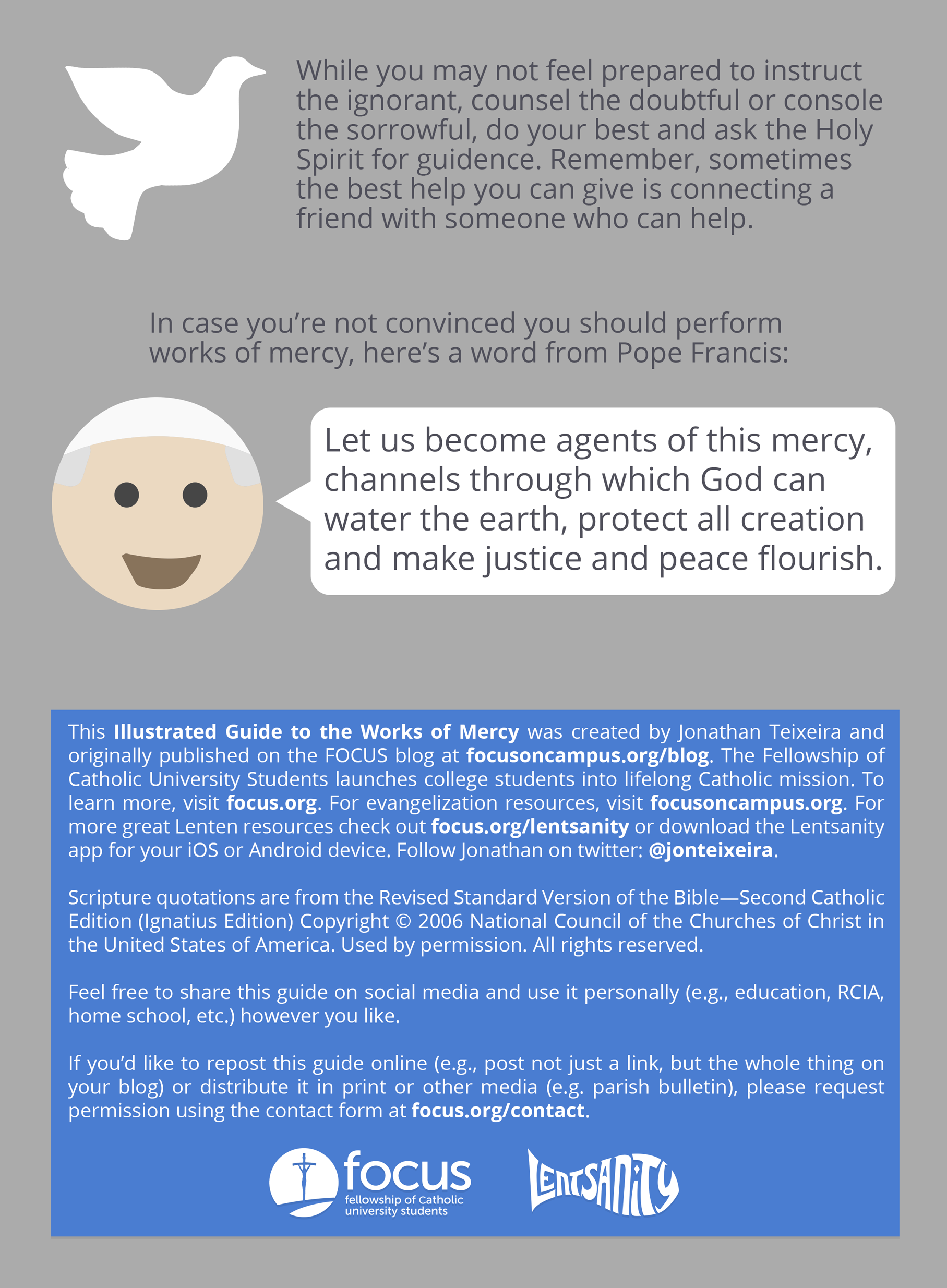 An Illustrated Guide To The Works Of Mercy Focus