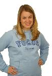 Click here for more information about Woman's Hooded Sweatshirt: FOCUS Est 1998 (Light Blue)
