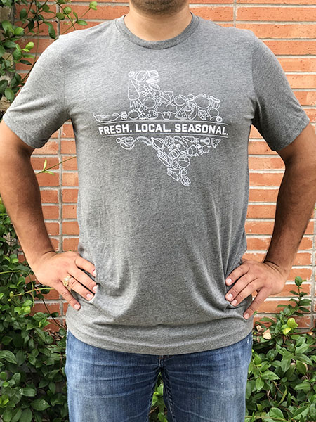 Light Grey Texas Slogan Shirt Front