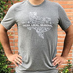 "Click here for more information about ""Fresh. Local. Seasonal."" Texas Veggies Unisex T-shirt"