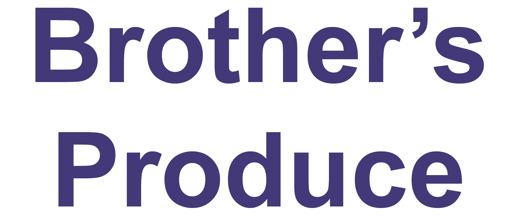 Brother's Produce Logo