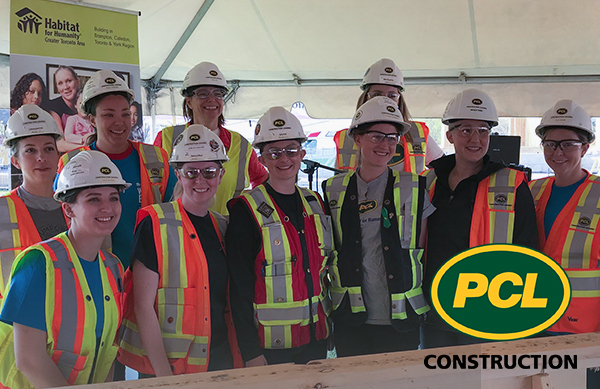 PCL Construction -Women Build 2019 - Habitat for Humanity Canada