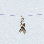 Wish Necklace - Silver Ribbon