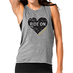 Click here for more information about Ride On Heart Muscle Tank