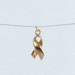 Wish Necklace - Gold Ribbon